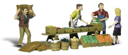 Woodland Scenics Farmers Market -- HO Scale Model Railroad Figure -- #a1896