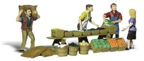 Woodland Farmers Market HO Scale Model Railroad Figure #a1896