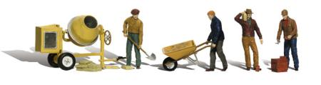 Woodland Masonry Workers HO Scale Model Railroad Figure #a1901