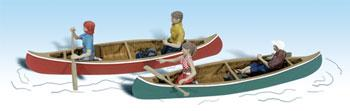 Woodland Scenics Canoers -- HO Scale Model Railroad Figure -- #a1918