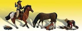 Woodland Ridin & Ropin HO Scale Model Railroad Figure #a1940