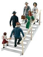 Woodland Taking The Stairs HO Scale Model Railroad Figure #a1954