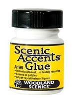 Scenic Accent Glue 1.25 oz Model Railroad Scenery Supply #a198