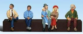 Woodland 1/8 Seated People Architecture HO Scale Model Railroad Figure #a2037