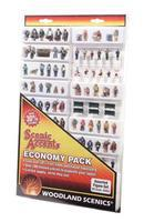 Woodland Assorted Figure Set Economy Pack HO Scale Model Railroad Figure #a2053