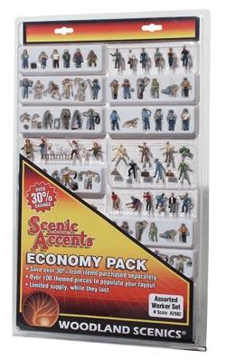 Woodland Economy Figure Pack Worker Figure Economy Pack N Scale Model Figures #a2062