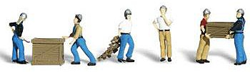 Woodland Dock Workers N Scale Model Railroad Figure #a2123