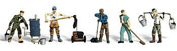 Woodland Scenic Accents Roofers (5) N Scale Model Railroad Figure #a2128