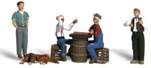 Woodland Scenics Scenic Accents Checkers Players (4) -- N Scale Model Railroad Figure -- #a2132