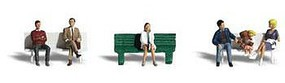 Woodland Bus Stop People N Scale Model Railroad Figure #a2134