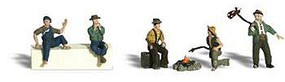 Woodland Hobos N Scale Model Railroad Figure #a2138
