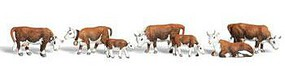 Woodland Hereford Cows N Scale Model Railroad Figure #a2144