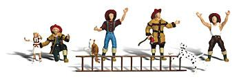 Woodland Firemen to the Rescue N Scale Model Railroad Figure #a2151