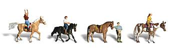 Woodland Horseback Riders N Scale Model Railroad Figure #a2159