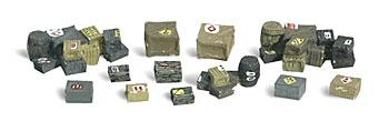 Woodland Scenics Assorted Crates -- N Scale Model Railroad Building Accessory -- #a2162