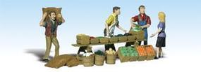 Woodland Scenic Accents Farmers Market (4 Figs w/Access) N Scale Model Railroad Figure #a2170