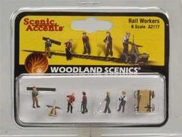 Woodland Rail Workers N Scale Model Railroad Figure #a2177