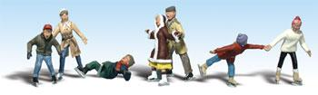 Woodland Scenic Accents Ice Skaters (7) N Scale Model Railroad Figure #a2184