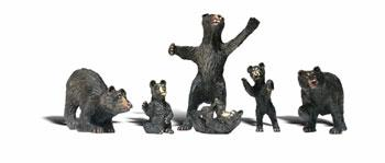 Woodland Scenic Accents Black Bears (6) N Scale Model Railroad Figure #a2186