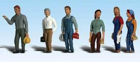 Woodland Scenic Accents 2nd Shift Workers (6) N Scale Model Railroad Figure #a2188