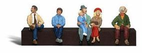 Woodland Scenic Accents Passengers Sitting (6) N Scale Model Railroad Figure #a2190