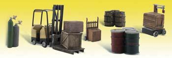Woodland Scenics Loading Dock Details -- N Scale Model Railroad Building Accessory -- #a2208