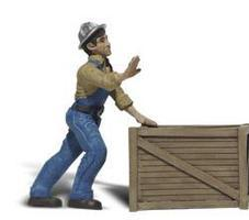 Woodland G Dock Worker w/Crate