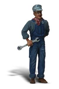 Woodland Scenics Scenic Accents(R) Figures - Mechanic w/Wrench -- G Scale Model Railroad Figure -- #a2526