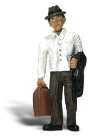Woodland Scenic Accents(R) Figures - Traveler w/Bag G Scale Model Railroad Figure #a2531