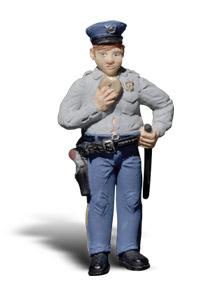 Woodland Scenic Accents(R) Figures Cop w/Doughnut G Scale Model Railroad Figure #a2532