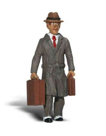 Woodland Scenic Accents(R) Figures - Carl Commuter G Scale Model Railroad Figure #a2538
