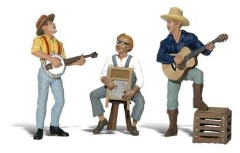 Woodland Scenics Scenic Accents(R) Figures -- Pickin' & Grinnin' -- G Scale Model Railroad Figure -- #a2546