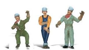 Woodland Scenic Accents(R) Figures Idling Engineers G Scale Model Railroad Figure #a2547