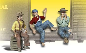 Woodland Scenics Scenic Accents(R) Figures -- The Bumm Brothers -- G Scale Model Railroad Figure -- #a2548