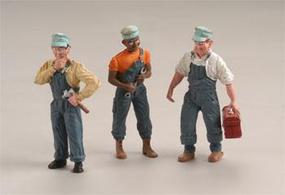 Woodland Train Mechanics (3) G Scale Model Railroad Figure #a2549