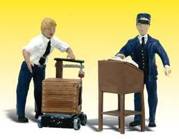 Woodland Scenic Accents(R) Figures Dedicated Depot Workers G Scale Model Railroad Figures #a2555