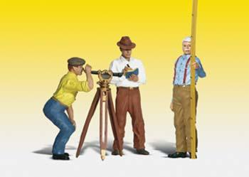 Woodland Scenics Scenic Accents Figures -- Hilow Brothers Surveying Co. -- G Scale Model Railroad Figures -- #a2556