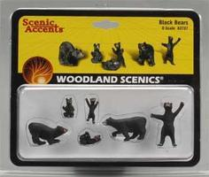 Woodland Black Bears O Scale Model Railroad Figure #a2737