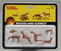 Woodland Deer O Scale Model Railroad Figure #a2738