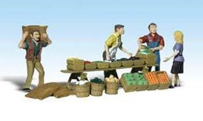 Woodland Farmers Market O Scale Model Railroad Figure #a2750