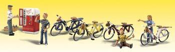 Woodland Bicycle Buddies O Scale Model Railroad Figure #a2752
