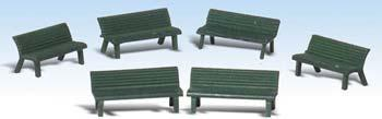Woodland Scenics Park Benches -- O Scale Model Railroad Building Accessory -- #a2758