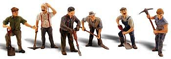 Woodland Road Crew O Scale Model Railroad Figure #a2761