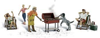 Woodland Backyard Barbeque O Scale Model Railroad Figure #a2765