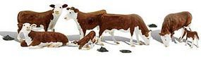 Woodland Hereford Cows O Scale Model Railroad Figure #a2767