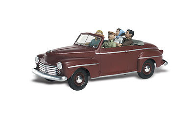 Woodland Sunday Drive 1940s Ford Convertible w/Figures N Scale Model Railroad Figure #as5334