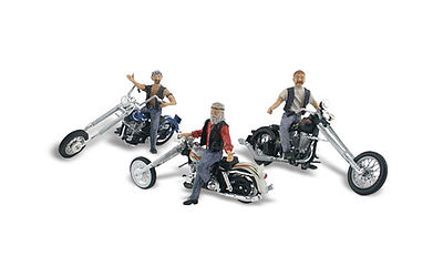 Woodland Bad Boy Bikers HO Scale Model Railroad Vehicle #as5554