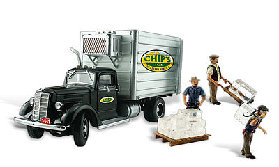 Woodland Scenics Chips Ice Truck -- Autoscene -- HO Scale Model Railroad Vehicle -- #as5557