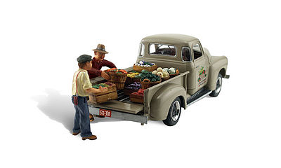 Woodland Scenics Paul's Fresh Produce -- Autoscene -- HO Scale Model Railroad Vehicle -- #as5561