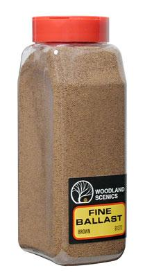 Woodland Scenics Ballast -- Fine (Brown) 32 oz -- Model Railroad Ballast -- #b1372